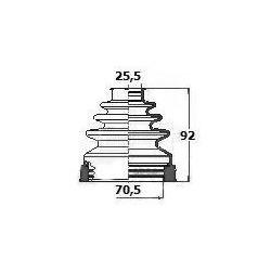 Пыльник, приводной вал (BORG & BECK) BCB6131