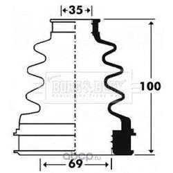 Пыльник, приводной вал (BORG & BECK) BCB2903