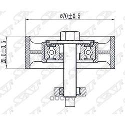 Обводной ролик приводного ремня (Sat) ST1049577