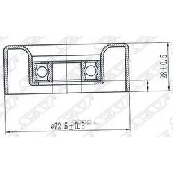 Обводной ролик приводного ремня (Sat) STZJ0115940