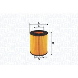 Масляный фильтр (MAGNETI MARELLI) 152071761690