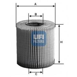 Фильтр масляный (UFI) 2503900