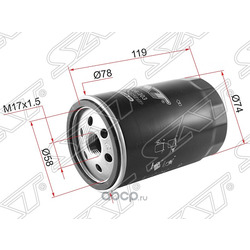Фильтр масляный (Sat) STYF0914303
