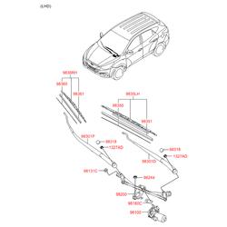 Щетка стеклоочистителя передняя правая Хендай Ай Икс 35 (Hyundai-KIA) 983602S000