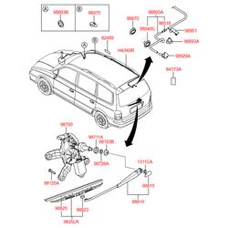 Задняя щетка стеклоочистителя (Hyundai-KIA) 988203A000