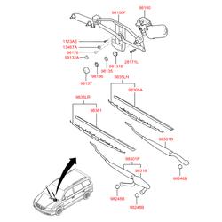 Щетка стеклоочистителя передняя правая Хендай Траджет (Hyundai-KIA) 983603A000