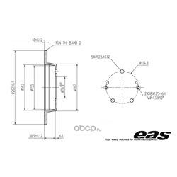 Диски тормозные задние (EAS) EBD10055