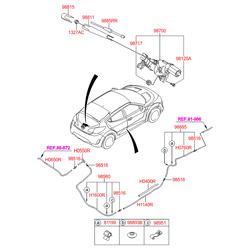 Задняя щетка стеклоочистителя (Hyundai-KIA) 988502V000