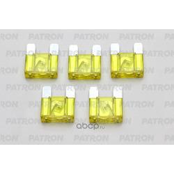 Предохранитель 5шт maxi fuse 20a желтый (PATRON) PFS062