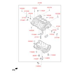 Блок цилиндров (Hyundai-KIA) 304B32BU00