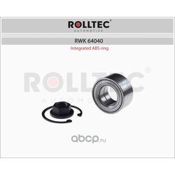 Ремкомплект подшипника ступицы колеса переднего с ABS (ROLLTEC) RWK64040
