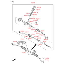Втулка рулевой рейки Киа Сид 2012 (Hyundai-KIA) 565223X100