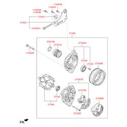 Генератор на Киа Сид 2014 (Hyundai-KIA) 373002B710