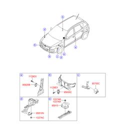 Датчик подушки безопасности (Hyundai-KIA) 959200A100