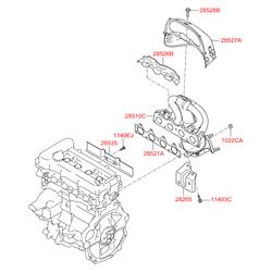 Выпускной коллектор Kia Ceed (Hyundai-KIA) 285102B420