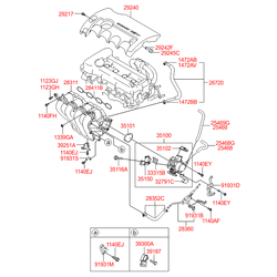 Крышка двигателя (Hyundai-KIA) 292402B031
