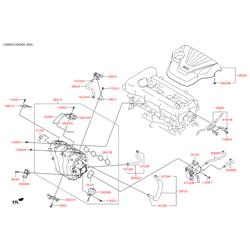 Крышка двигателя Киа Сид 2013 (Hyundai-KIA) 292402B800
