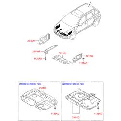 Защита двигателя Киа Сид 2008 1.6 (Hyundai-KIA) 291202H050