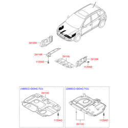 Защита двигателя Киа Сид 2009 (Hyundai-KIA) 291202H050