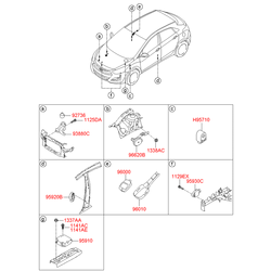 Звуковой сигнал Киа Сид 2013 (Hyundai-KIA) 966303X001