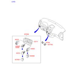Звуковой сигнал на Киа Сид 2010 (Hyundai-KIA) 966601H000