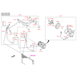 Компрессор кондиционера Киа Сид 1.6 (Hyundai-KIA) 97701A6700