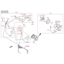 Компрессор кондиционера на Киа Сид 2012 (Hyundai-KIA) 97701A6700
