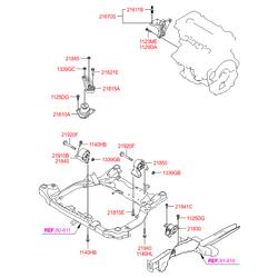 Опора двигателя Киа Сид 2010 (Hyundai-KIA) 219302R100