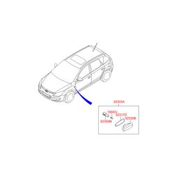 Повторитель поворота Kia Ceed 2007 (Hyundai-KIA) 923113L100