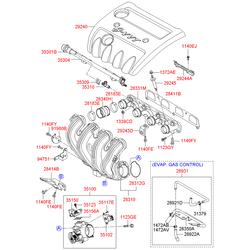 Прокладка дроссельной заслонки (Hyundai-KIA) 3515625000
