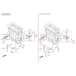 Термостат Киа Сид 2010 (Hyundai-KIA) 256002B003