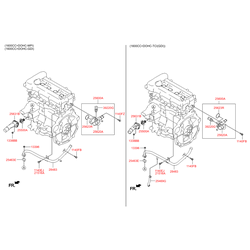 Термостат Киа Сид 2011 (Hyundai-KIA) 256002B003