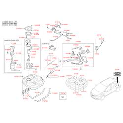 Топливный бак Киа Сид 2013 (Hyundai-KIA) 31150A6050