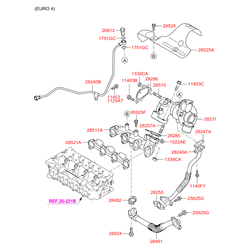 Турбина Киа Сид 2012 (Hyundai-KIA) 282012A701
