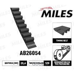 Ремень ГРМ 129ru25.4 (Miles) AB26054