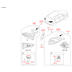 Цоколи ламп Киа Церато 2 (Hyundai-KIA) 1864421058L