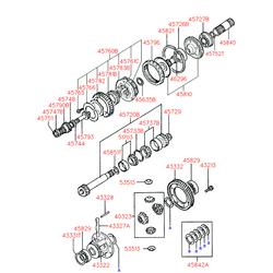 Опорный подшипник Киа Церато 2005 (Hyundai-KIA) 5352211100