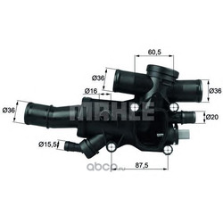 Термостат (Mahle/Knecht) TH4483