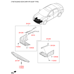 Защита двигателя Киа Оптима 2014 (Hyundai-KIA) 291302T000