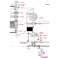 Передние стойки Киа Оптима (Hyundai-KIA) 546612T012