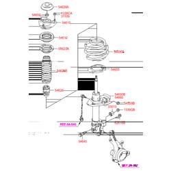 Стойка передняя Киа Оптима 2012 (Hyundai-KIA) 546612T012