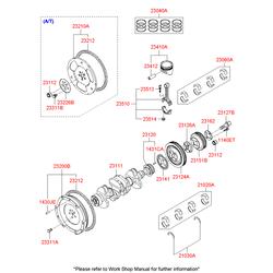 Поршневые кольца (Hyundai-KIA) 2304002950