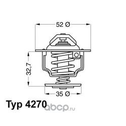 Термостат (с прокладкой) (Wahler) 427088D