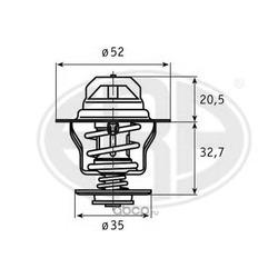 Термостат, охлаждающая жидкость (Era) 350027