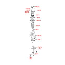 Пыльник амортизатора переднего (Hyundai-KIA) 546251E000