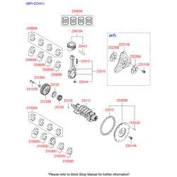 Комплект вкладышей шатунных (Hyundai-KIA) 2306026200