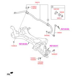 Скоба втулки стабилизатора (Hyundai-KIA) 548461G100
