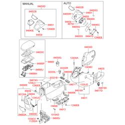 Гайка пружинная (Hyundai-KIA) 1335705036