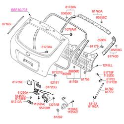 Крепеж амортизатора багажника (Hyundai-KIA) 8116336000