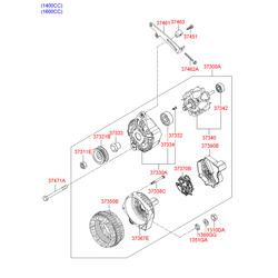 Кронштейн генератора (Hyundai-KIA) 3746126050